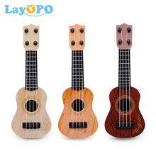 Mini Guitar 4 Strings Classical Ukulele Guitar Toy Musical Instruments for Kids Children Beginners Early Education Small Guitar