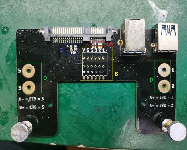 USB жесткий диск для восстановления данных полета линии перемычку доска с плохим трек копия Функция