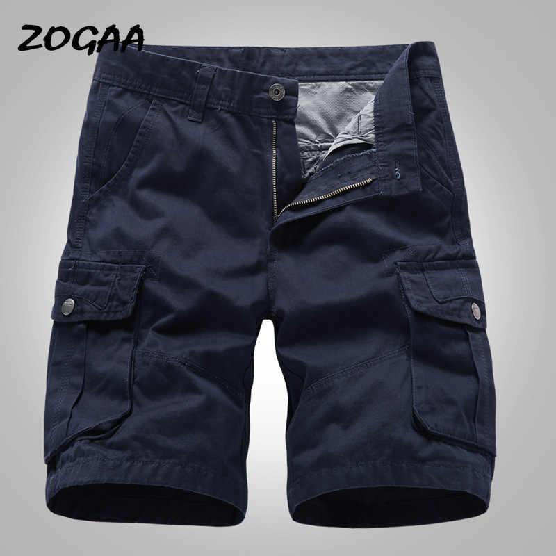 ZOGAA Cargo Shorts Men 2020 New Mens 캐주얼 코튼 반바지 남성 루스 워크 반바지 남성 밀리터리 숏 팬츠