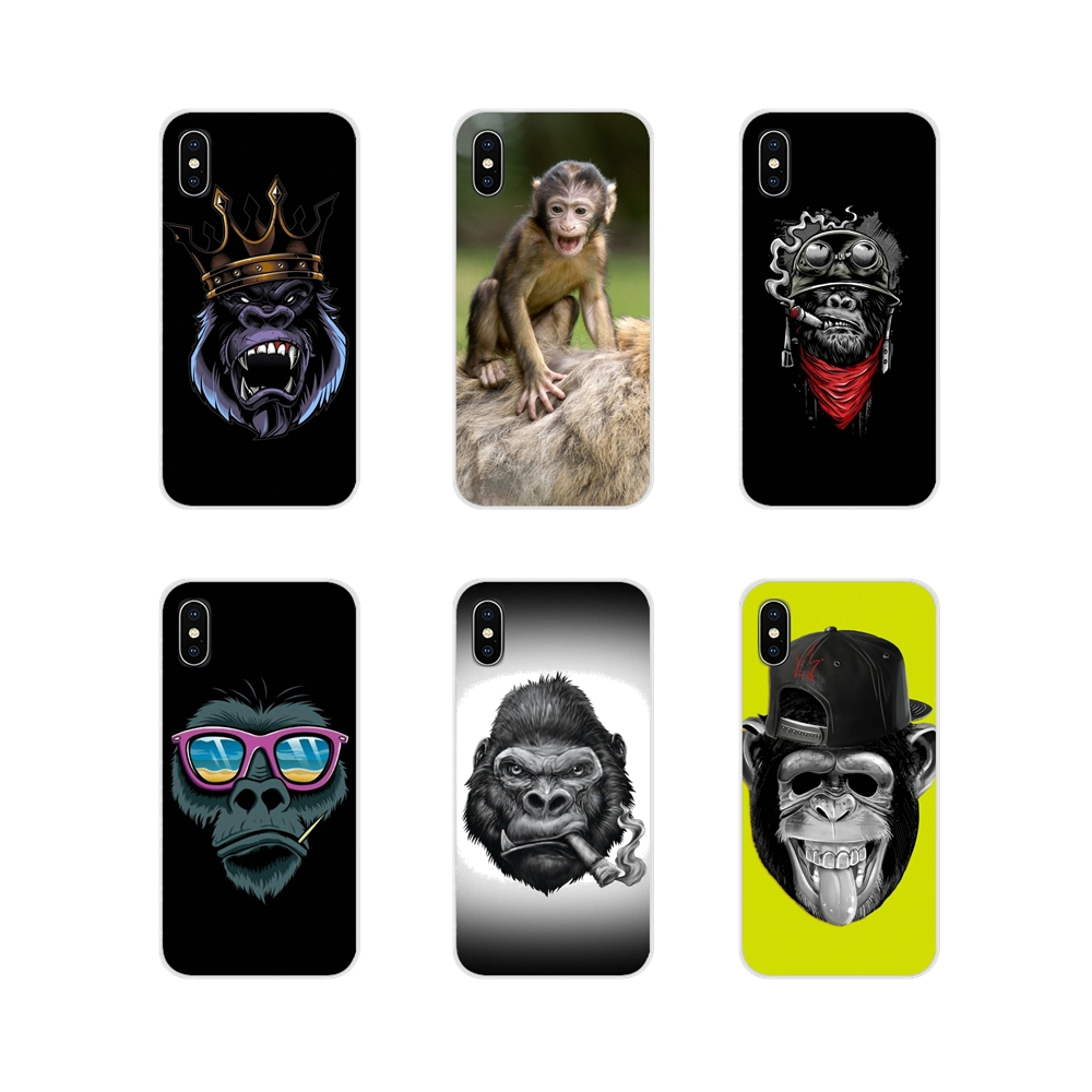 For Apple iPhone X XR XS 11Pro MAX 4S 5S 5C SE 6S 7 8 Plus ipod touch 5 6 Accessories Phone Shell Covers Monkey Gorilla Ape Baby