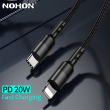 20w pd usb c cabo de carregamento rápido para o iphone 12 11 pro xs max xr x 8 mais carregador rápido tipo-c à iluminação do cabo de dados do telefone móvel
