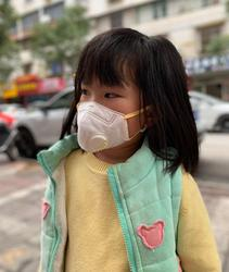 Kids Mask 2 pcs Kids Breath valve Dust mask PM2.5 filter Anti haze/fog face Mask children mouth mask Activated carbon filter