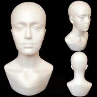 Пена мужской дисплей манекен голова манекен парики на шляпы шарф стенд модель