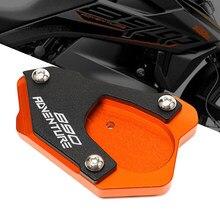 Suporte lateral placa ampliador para ktm 890 adv 890 aventura r 2021 acessórios da motocicleta pé extensão kickstand extensão almofada
