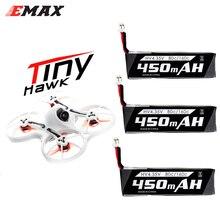 RC batería Emax 3,7 V 1S 450MHA 80C batería de polímero de litio de PH2.0 Emax Tinyhawk 75mm F4 Magnum Mini 5,8G FPV Drone RC Drone