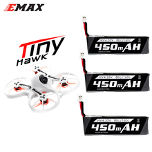 RC pil, emax 3.7V 1S 450MHA 80C lityum polimer pil PH2.0 Emax Tinyhawk 75mm F4 Magnum Mini 5.8G FPV RC Drone