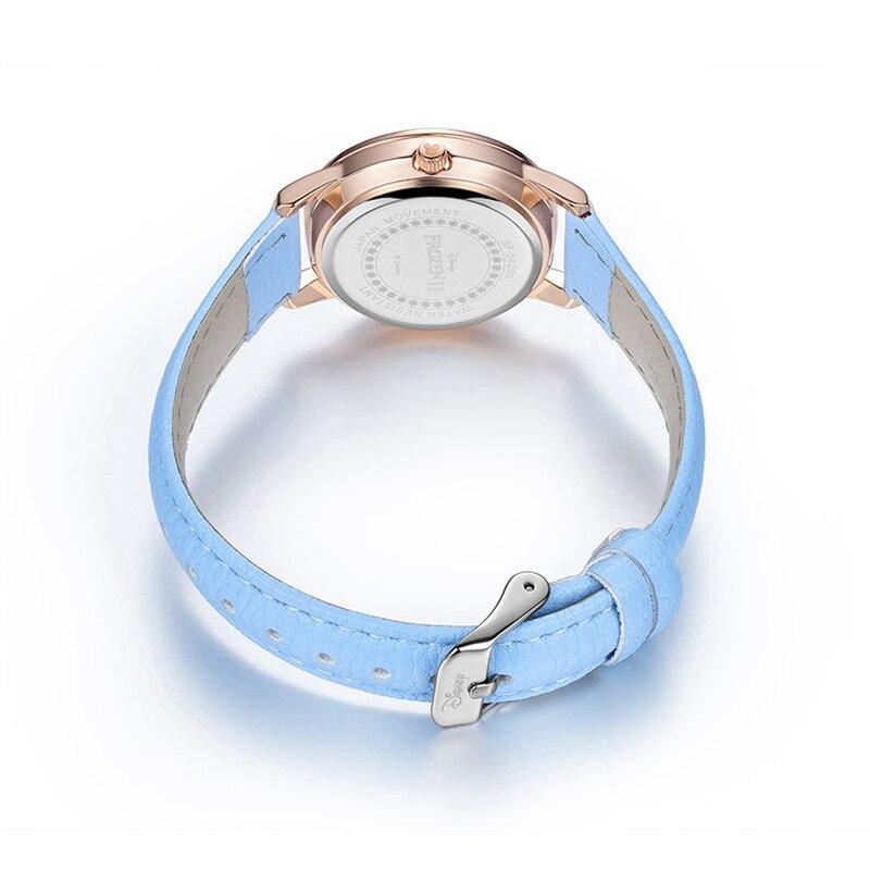 Девочки Милые Замороженные Принцесса Смотреть Молодая Леди Кварцевые Наручные Часы Женщины Студент Розовый Синий Фиолетовый Цвета Часы Женский Мода Подарок