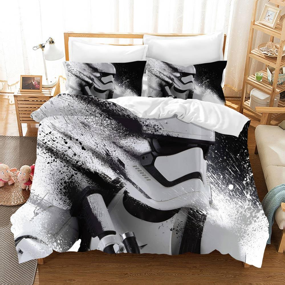 Edredon Star Wars Bedding Sets Duvet Cover Home Textile Single Queen King Size Bedding Set Bed Sheets Pillowcases Bed Linen