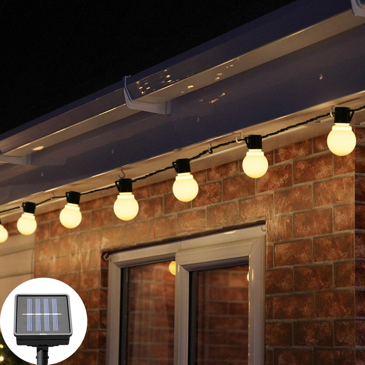 Светодиодная лампа на солнечной энергии, водонепроницаемый уличный садовый светильник, ночник, декоративный светильник для патио, шар на Р...