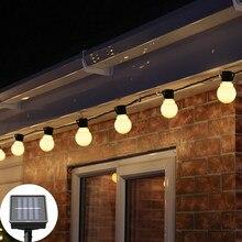Corda led com lâmpada solar, à prova d' água, para áreas externas, para jardim, para noite, decorativa, para pátio, bola de natal