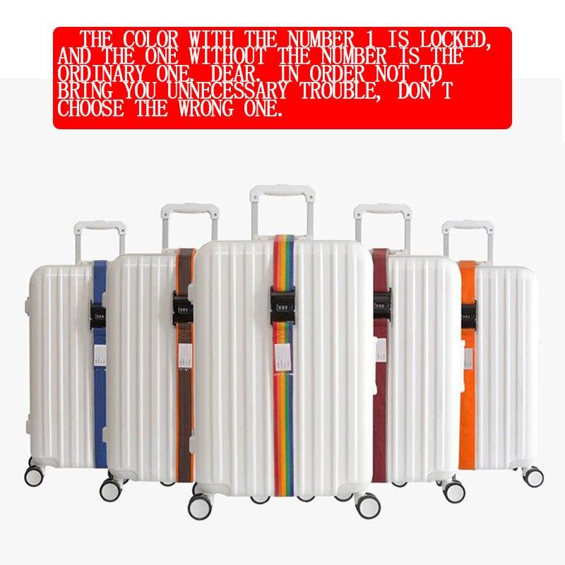 Luggage Strap Cross Strap Packing Adjustable 200CM Travel Suitcase PP 3 Digits Password Lock Luggage Strap Belts Belt Closure