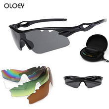 Photochromic Sunglasses Bicycle Sports-Goggles Oloey Women New 5-Lens Color-Changing
