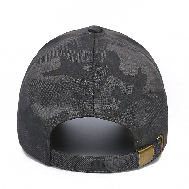 HSSEE Fashion Camouflage Cotton Men Fishing Hat Anti-rust Metal Adjustable Buckle Breathable Comfortable Outdoor Tactical Cap 2
