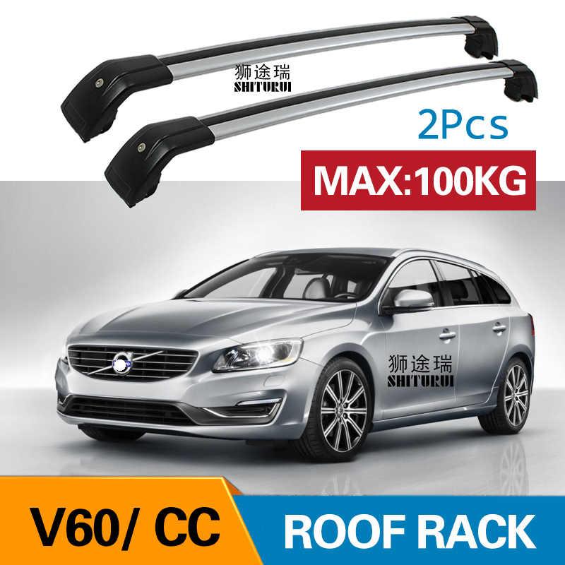2pcs roof bars for volvo v60 155 157