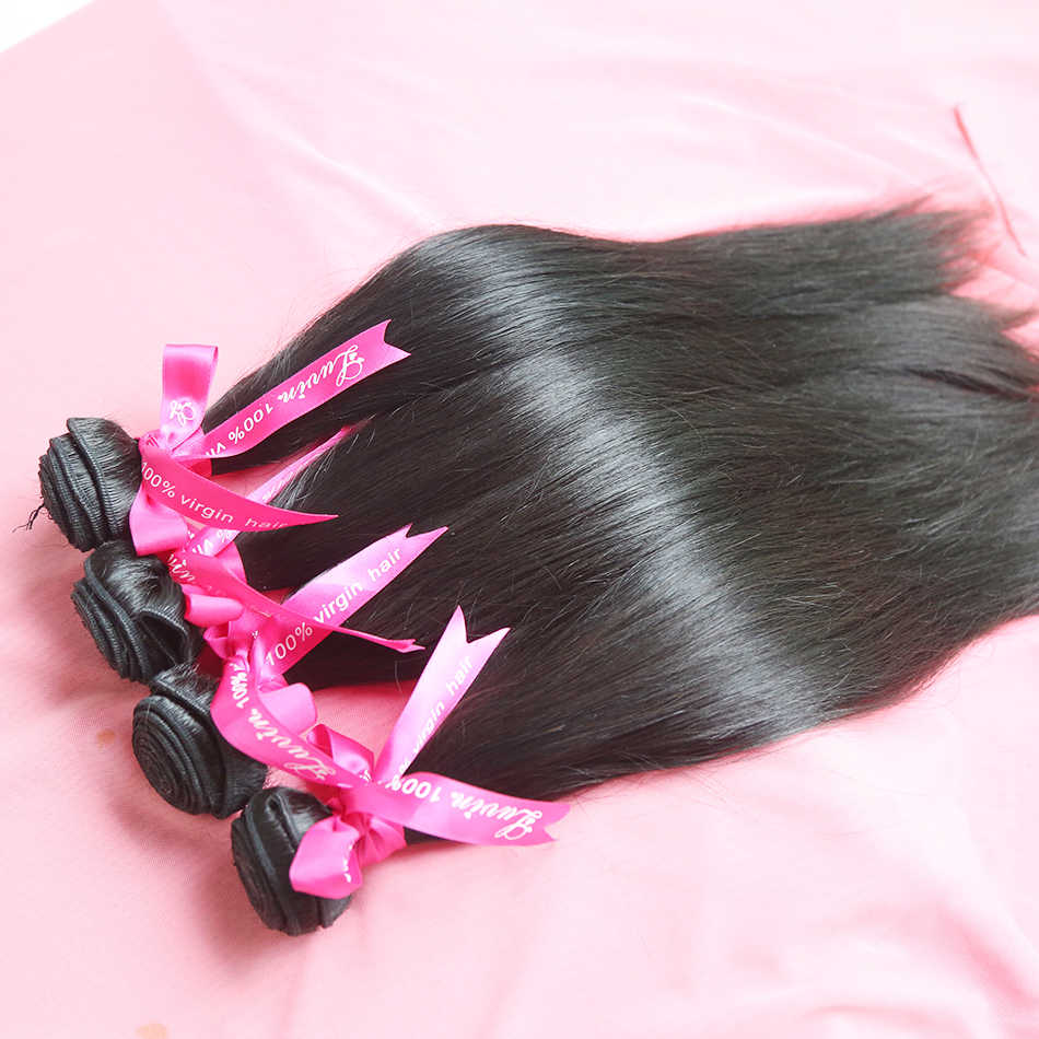 Luvin Brazilian Hair Weave Bundles Virgin Hair Straight 3 Pcs/Lot 100% Unprocessed Human Hair Extension 30 Inch Bundles Weaves