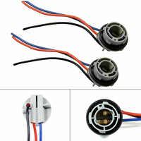 Accesorios para luz de freno de automóvil, 1157 casquillo de bombilla BAY15D, soporte de lámpara P21/5W, Conector de Base adaptador, 2 uds.