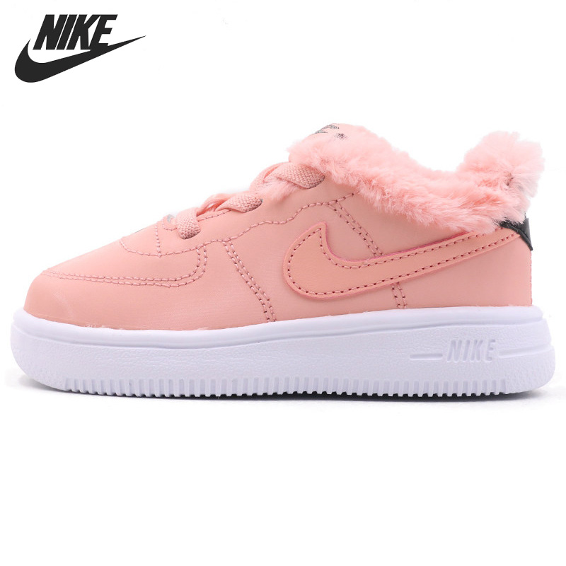 Original New Arrival NIKE FORCE 1 '18 VDAY (TD) Kids shoes Children Sneakers
