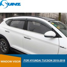Car door visor For HYUNDAI TUCSON 2015-2018 Side window deflectors rain guards for HYUNDAI TUCSON 2015 2016 2017 2018 SUNZ комплект амортизаторов autocrew для hyundai tucson 2018 2019