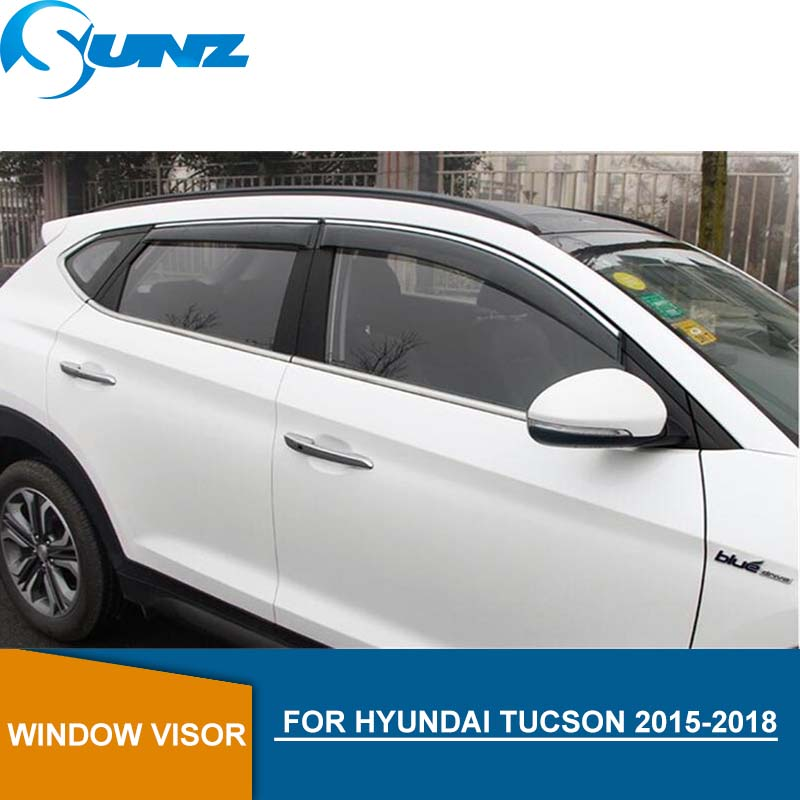 New Smoke Window Sun Visors Rain Guard Vent Shield for Hyundai Tucson 2016