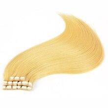 BAISI волосы Европейская Реми лента для наращивания волос в прямые волосы лента волос человеческие волосы