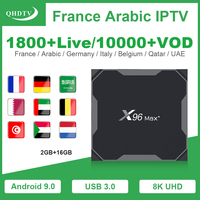 X96 Max Plus Франция арабский IPTV 1 год QHDTV подписка 2 + 16G Android 9,0 8K Full HD коробка IPTV французский Бельгия голландский IP ТВ QHDTV