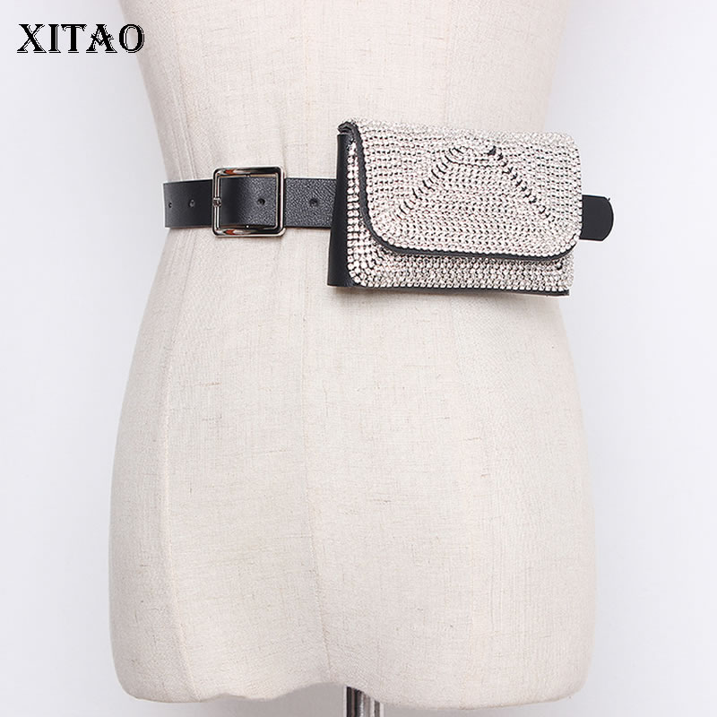 XITAO Tide Cummerbunds Full Diamond Decoration Removable Women 2020 New Personality Fashion Match All Cimmerbunds ZLL4622