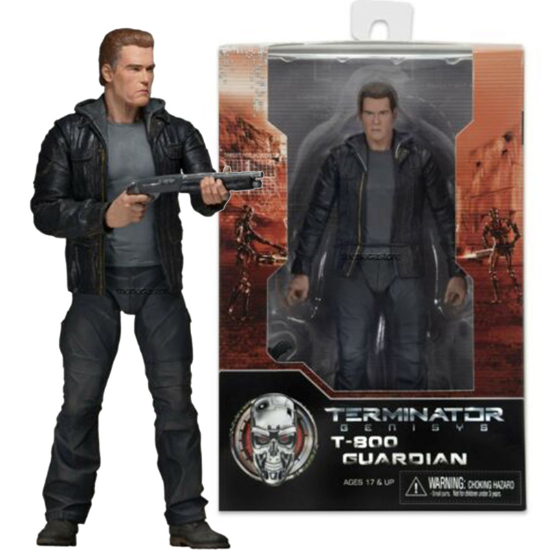 The Terminator T-800 Figure Guardian NECA Joints movable PVC Action Figure Collectible Model Toys Gift 18cm