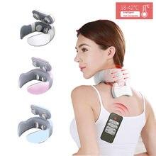 Massager elétrico inteligente do pescoço alívio ombro e pescoço dor massageador fisioterapia cuidados de saúde 4d massagem terapia magnética