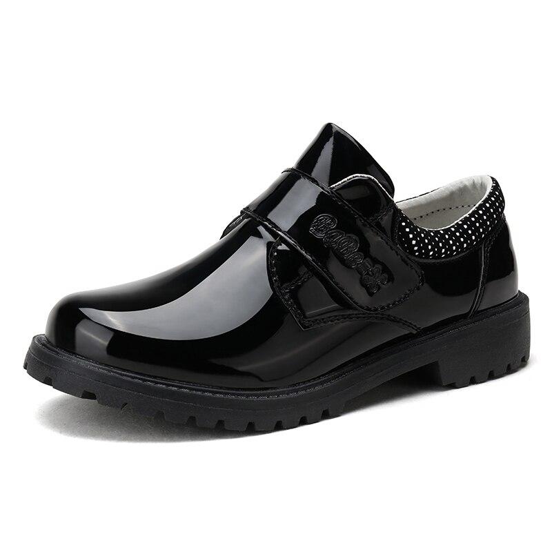 Boys' Genuine-Leather Black Shoes