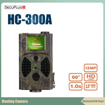 цены SecuPlug+ HC 300A hc300 Hunting Trail Camera HD 1080P 12MP Photo foto Traps wild camera Night Vision Hunter Camera Chasse