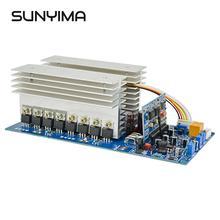 SUNYIMA 3000 Вт Чистая Синусоидальная волна мощность преобразователь частоты DC 24 в 48 в 60 в до AC 220 В 1500 Вт 3500 Вт с идеальной защитой