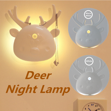 Hot Sale Lamps LED Multi-Function Deer Human Body Induction USB Charging Creative Night Light Bedroom Wardrobe Sensor Gift