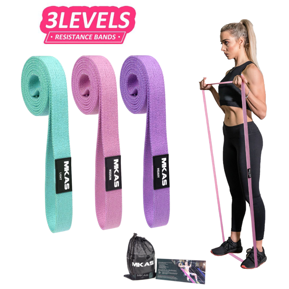 Lange Stoff widerstand bands set fitness Pull Up Assist Booty Hüfte workout übung schleife Elastische bands 3-Stück nicht-slip für bein