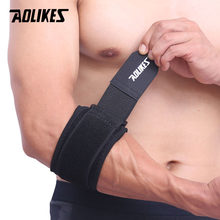 AOLIKES 1PCS Adjustbale Tennis Elbow Support Guard Pads Golfer's Strap Elbow Lateral Pain Syndrome Epicondylitis Brace(China)