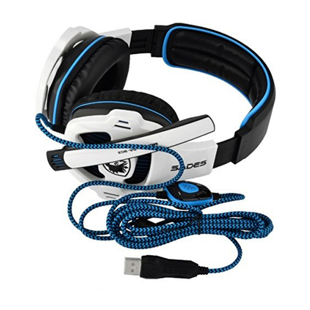 SADES SA-903 Gaming Headset 7.1 Surround Sound channel USB Wired Headphone with Mic Volume Control Best casque for Gamer 5
