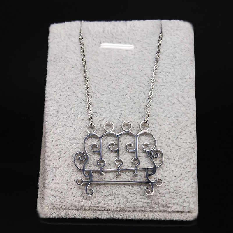 2020 Paimon sceal Sigil lucyfer Seal szatan naszyjnik ze stali nierdzewnej Baphomet srebrny kolorowy naszyjnik ukrywa koszula biżuteria N3053S03