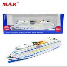 Collectible 1:1400 Siku Aida Cruiser Cruiseliner Miniature Replica Civilian/transport Ship Boat Battleship Model for Kids