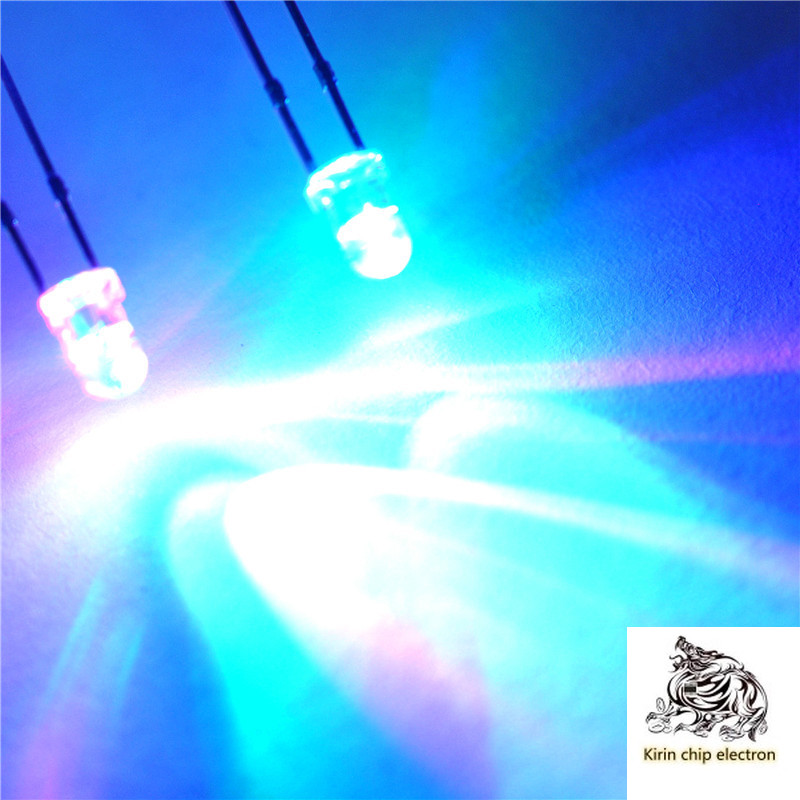 1000PCS/LOT 3MM LED Light-emitting Diode Lights F3 Round Head Colorful Slow Flash Alternately Flashing Red, Blue And Green
