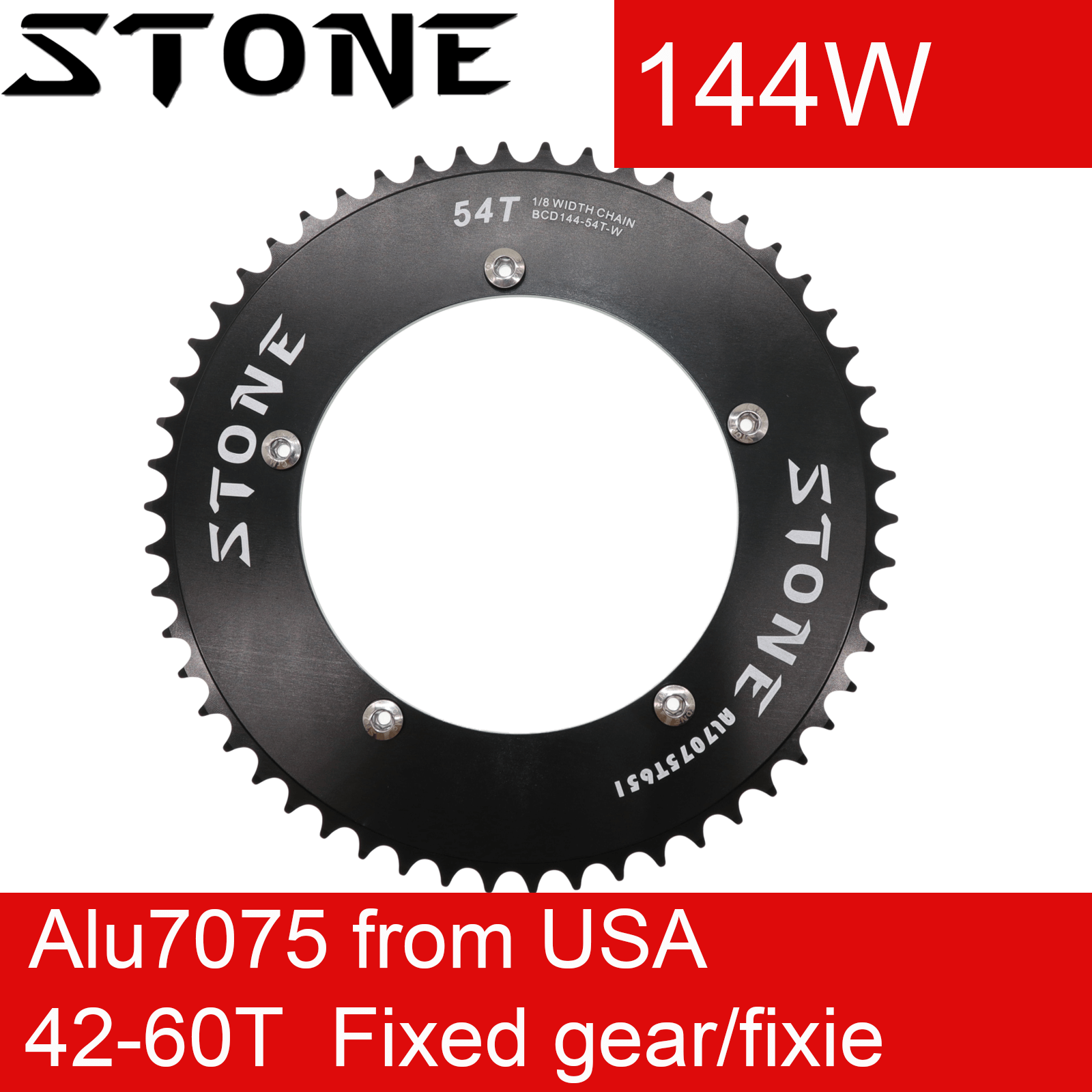 """Stone Track Fixed Gear Chainring BCD 130mm 1 1//8/"""" Single Speed Chain Ring"""