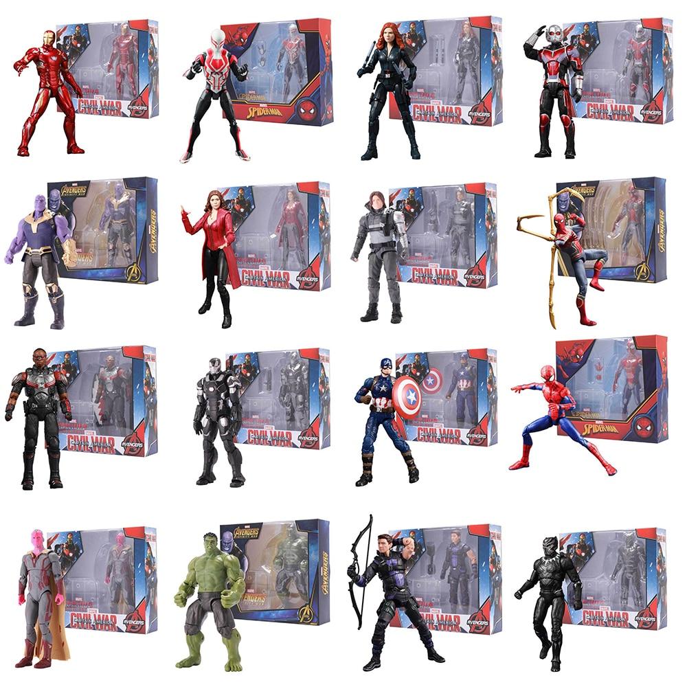 Marvel legends Avengers Endgame Super Heroes Iron Man Amazing Spider-Man Captain America Cartoon Action Figure Model Kids Toys