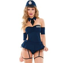 Sexy Lingerie Politie-uniform Erotische Catsuit Cosplay Sex Rok Bodysuit Sex Misbruik Bdsm Bondage Nachtclub Party Halloween Kostuum(China)