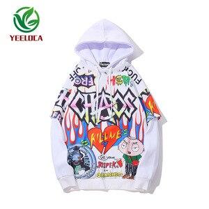 Image 5 - Sudadera con grafiti para hombre, ropa informal de Hip Hop, moda urbana, Top de gran tamaño, 2019
