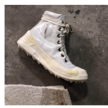2019 Dark CCP Summer  New Handmade Retro-vintage Solution Melting Bottom Wax Dropping Mens Boots