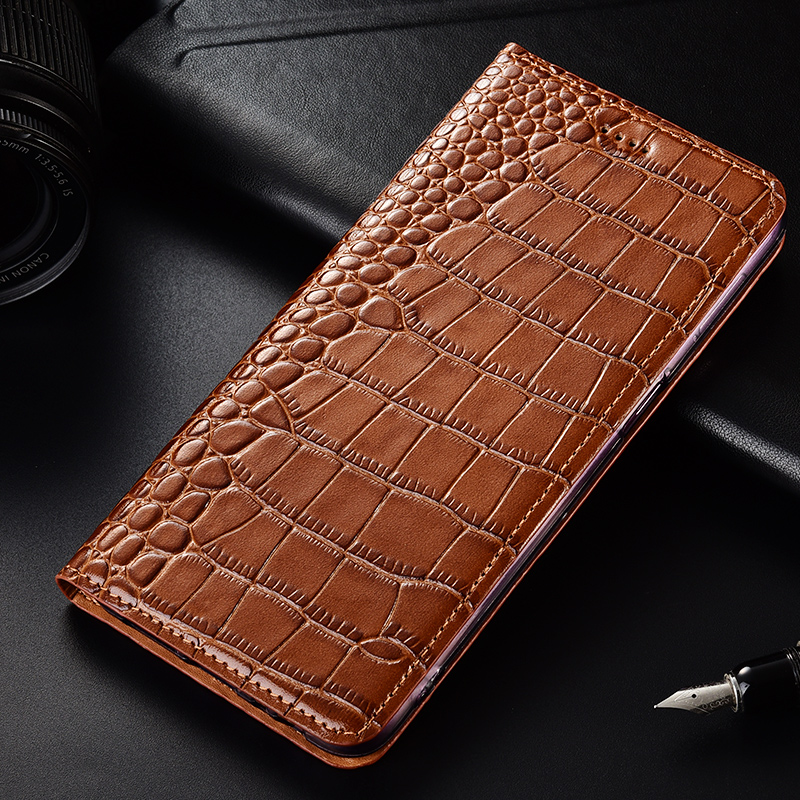 for Huawei Honor V10 Case Genuine Leather Crocodile pattern Soft Silicon Back Cover for Honor V10 Coque image