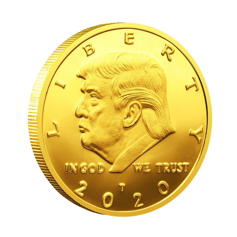 Президент США Дональд Трамп Коллекционная позолоченная сувенирная монета свободы в Бог мы доверяем памятной монете