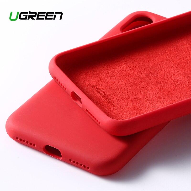 Ugreen étui pour iPhone X XS XR étui noir bleu Silicone rouge pour Apple 1:1 étui d'origine pour iPhone X XS