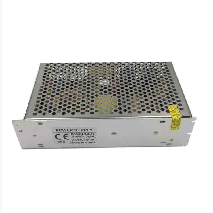 Прямая продажа с фабрики 12 V 20 мониторинга 240 Вт 18 каналов централизованный источник электропитания коробка Светодиодная лампа с переключатель шасси блок питания