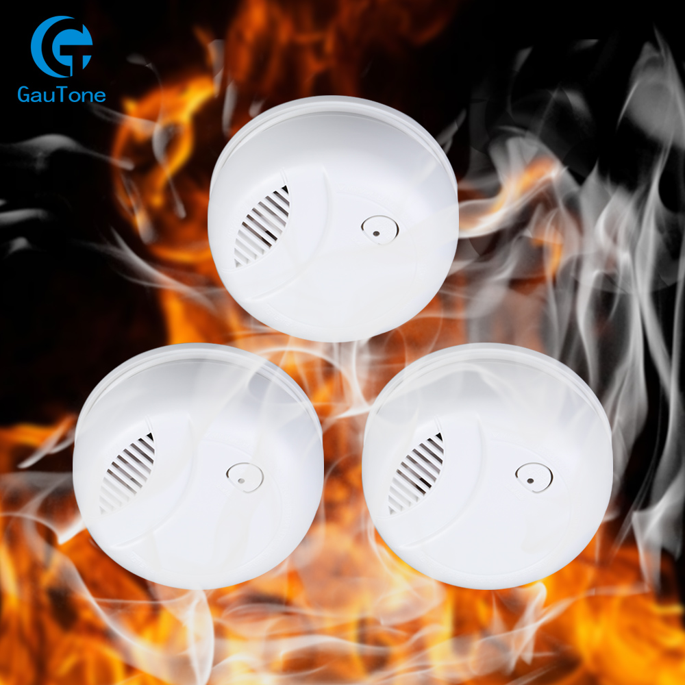 Standalone Alarm Smoke Detector Kit Home Security Wireless Fire Smoke Sensitive Detector Portable Alarm Sensors Fire Equipment
