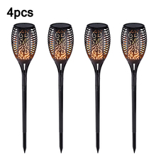 Lamp Flame-Lights Garden Solar Outdoor LED for Courtyard Balcony 12 Torches Flickering-Flame