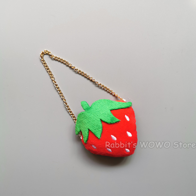 1:6 Scale RED STRAWBERRY Doll PURSE